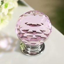 Revesun 10PCS/LOT Diameter 30mm Pink Crystal Glass