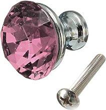 Revesun 10PCS Pink Diamond Shape Crystal Glass