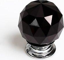 Revesun 4PCS/LOT Black 50mm Crystal Glass Door