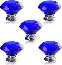 Revesun 6PCS/LOT Diameter 40mm Blue Crystal Glass