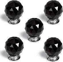Revesun 8PCS/LOT Diameter 40mm Black Crystal Glass