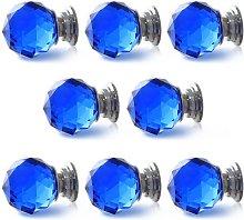 Revesun 8PCS/LOT Diameter 40mm Blue Crystal Glass