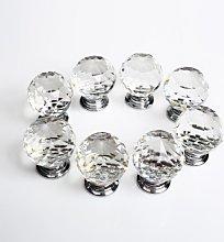 Revesun 8PCS/LOT Diameter 50mm Clear Crystal Glass