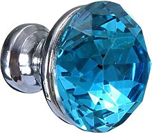 Revesun 8X Lake Blue Crystal Glass Cupboard