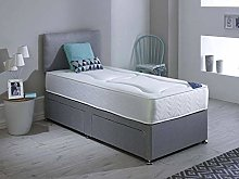 Revive Direct Single Bed with Mattress in Grey,