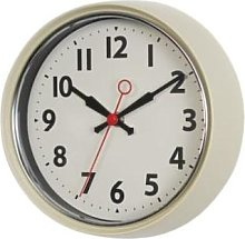 Rex London - Retro Ivory Wall Clock - ivory  