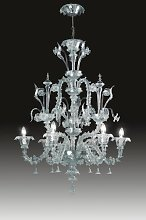 Rezzonico 6 Light Candle Chandelier Voltolina