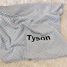 RFDFG Ms.O Name Personalized Baby Blanket