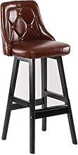 rfeifei Style Bar Stool Solid Wood Bar Stool