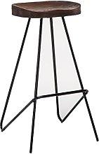 rfeifei Wrought iron bar stools, retro bar stools
