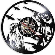 RFTGH Beige tail hunting vinyl record wall clock