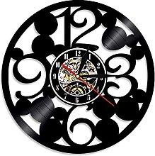 RFTGH Big number vinyl record wall clock modern