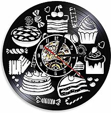 RFTGH Candy Time Kitchen Wall Clock Dessert Time