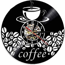 RFTGH Coffee cup and beans retro vinyl record wall