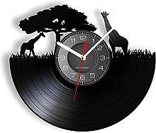 RFTGH Giraffe wall clock with clock African style
