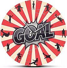 RFTGH Modern Wall Clock for Football Players Mute