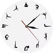 RFTGH Modern wall clock for yoga   wall clock for