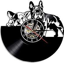 RFTGH Pet shop decoration puppy wall clock kitchen