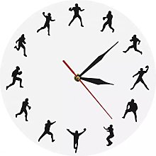 RFTGH Wall clock for American football players,