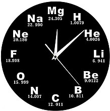 RFTGH Wall clock with chemical symbols   Chemical