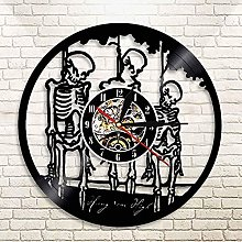 RFTGH Wall clock with treble skull hanging on rope