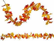 RFWIN 2 Pack Artificial Fall Maple Leaf Garlands