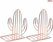 RG-FA 2PCS/Pair Creative Cactus Shaped Metal