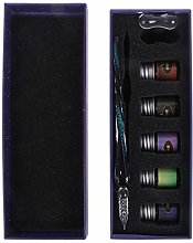 RG-FA Crystal Starry Sky Glass Ink Pen Glass Dip