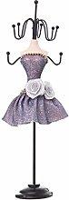 RG-FA Mannequin Purple Dress Lady Figure Jewelry