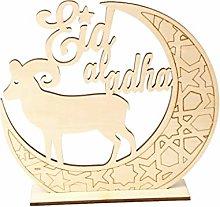 RG-FA Muslim Islam Eid Al Adha Wooden Home Party