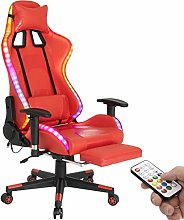RGB LED PC Gaming Chair,High Back Computer Desk