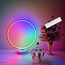 RGB Mood Lamp Bedroom 8W LED Desk Lamp, Dimmable