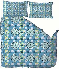 RGBVVM duvet cover double bed 79 x 79 inch Blue
