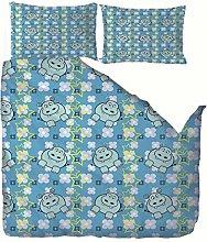 RGBVVM duvet cover single bed 55 x 79 inch Blue