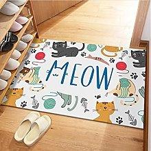 RGHJH Sailor Moon Cat Print Door Mat Floor Area