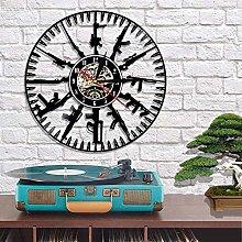 Rgzqrq Bullet time wall clock modern design gun