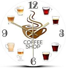Rgzqrq Coffee shop kitchen wall clock coffee shop