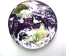 Rgzqrq Earth view wall clock modern design planet