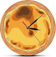 Rgzqrq Gourmet egg tart modern kitchen wall clock