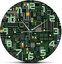 Rgzqrq Green silent wall clock computer quartz