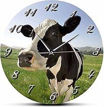 Rgzqrq Highland decorative wall art cow clock