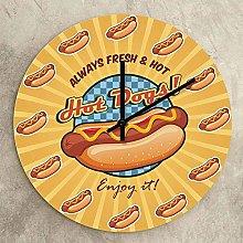 Rgzqrq Hot Dog Wall Clock Kitchen Art Fast Food