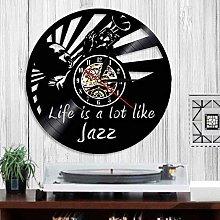 Rgzqrq Life is like a jazz wall clock jazz vinyl