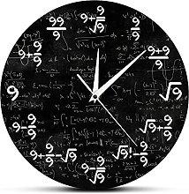 Rgzqrq Modern Math Wall Clock Math Digital Wall