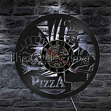 Rgzqrq Pizza time led wall lamp home indoor fast