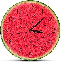 Rgzqrq Summer fruit watermelon printing wall clock
