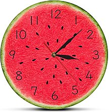 Rgzqrq Summer watermelon modern wall clock