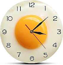 Rgzqrq Sunny side up fried egg kitchen wall clock
