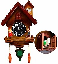 RH-ZTGY Cuckoo Clock, Traditional Chalet Black
