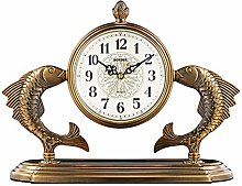 RH-ZTGY Mantel Clock Copper-Plated Pendulum Clock
